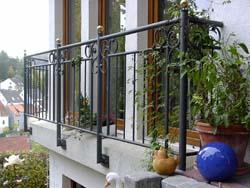 balkongel nder geschmiedet gel nder f r au en. Black Bedroom Furniture Sets. Home Design Ideas